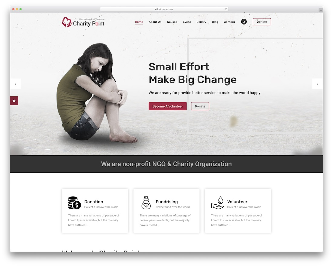 charity point html website template