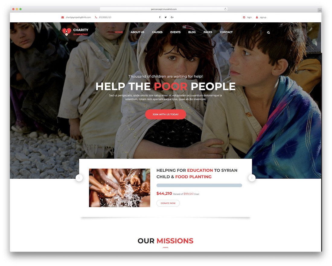 charity sympathy html website template
