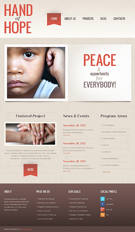 Empathy Charity WordPress Theme