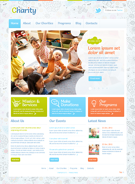 20 Charity WordPress Themes To Make The World A Better Place 2014 ...