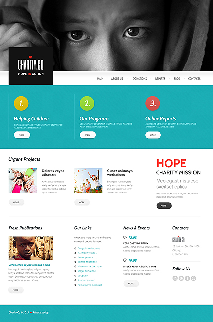 Metaphor Charity WordPress Theme