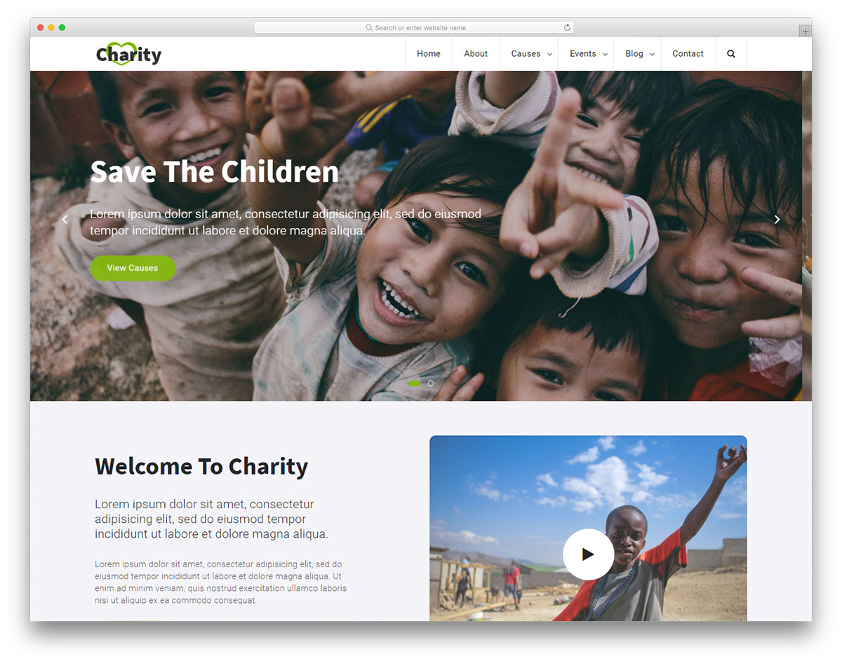 Charity 2 Free Template