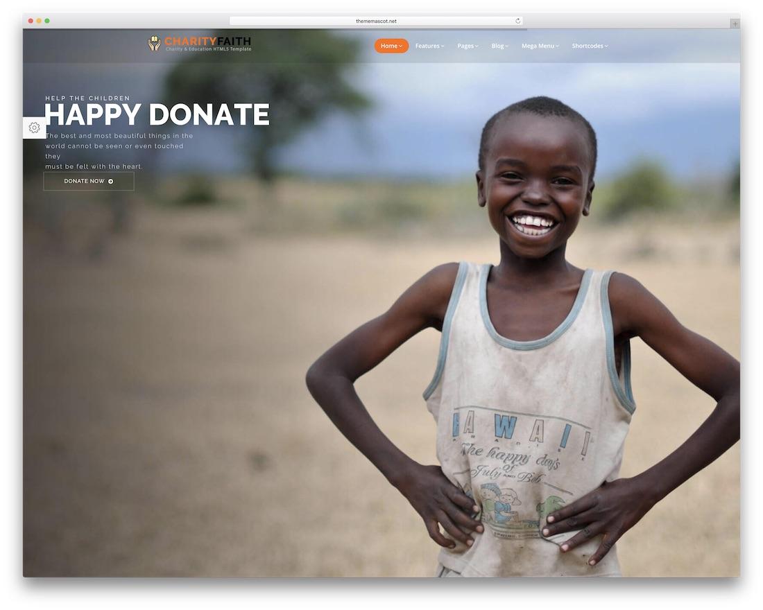 charityfaith html charity website template
