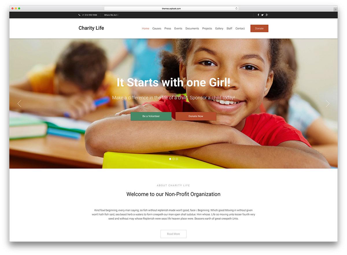 charitylife-minimal Charity WP template