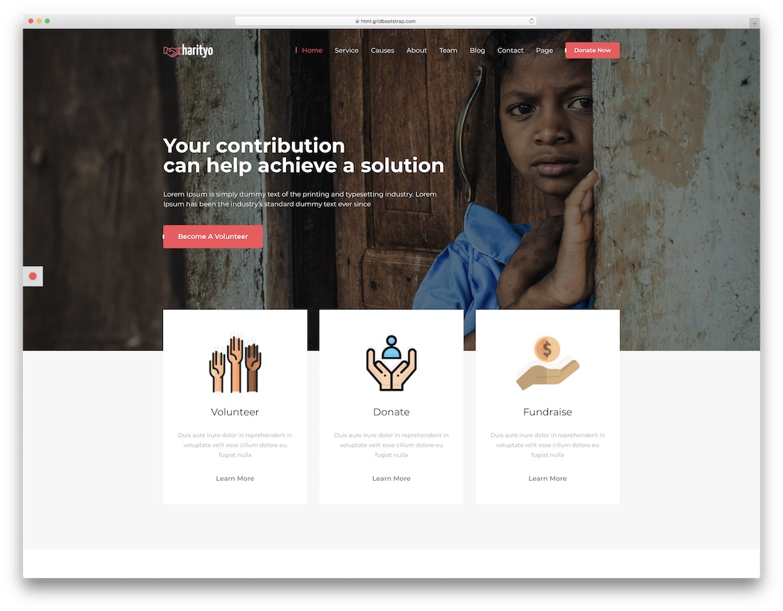 charityo church website template