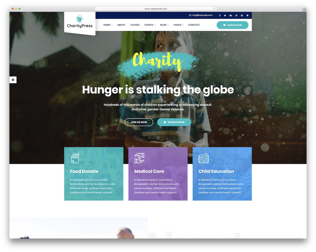 charitypress website template