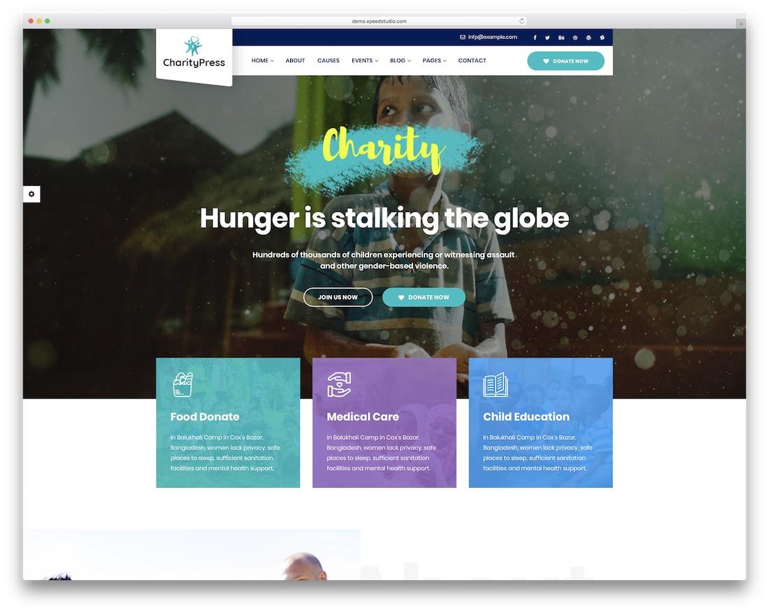 charitypress website template