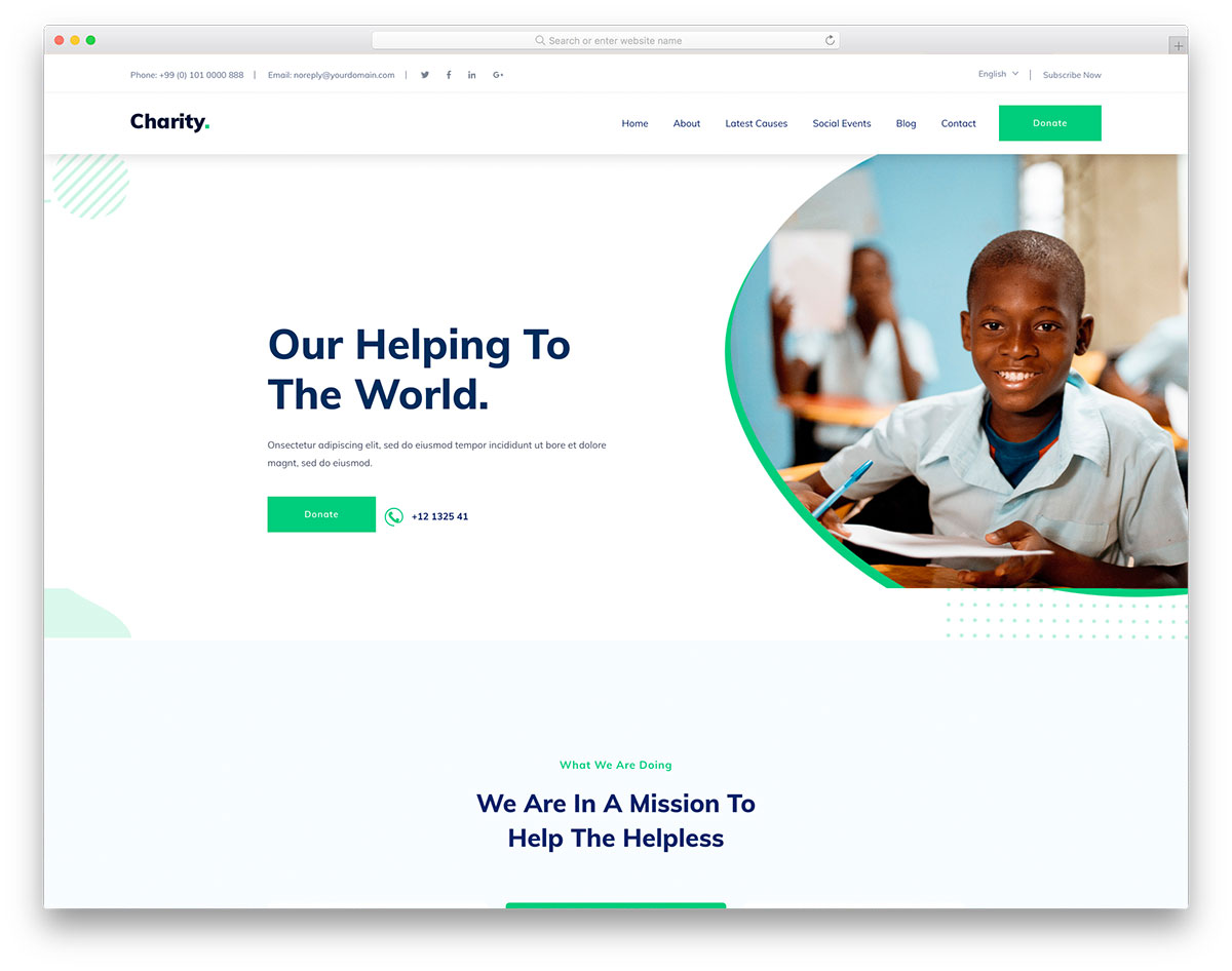 Charityworks Free Template