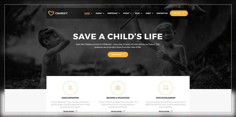 Charixy - Charity/Fundraising WordPress Theme | Charity WordPress