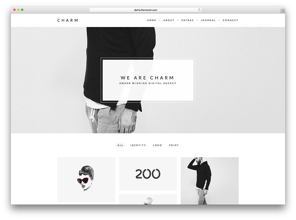 charm - minimal freelancer theme
