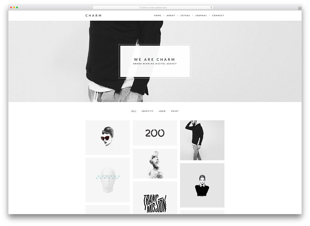 Charm Simple Design Wordpress Theme