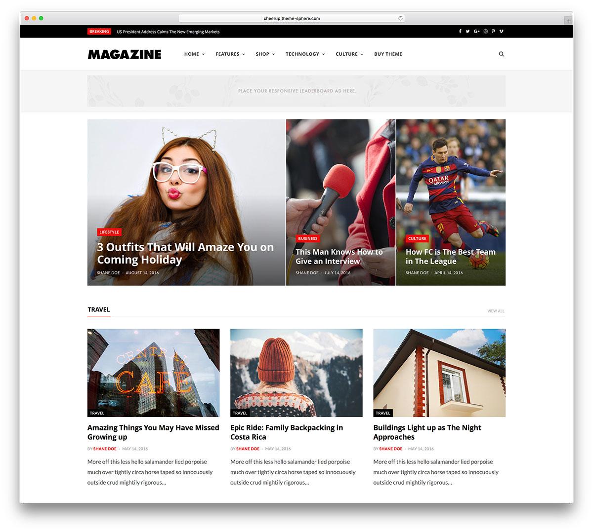 Top 40 News Magazine WordPress Themes 2018 - colorlib