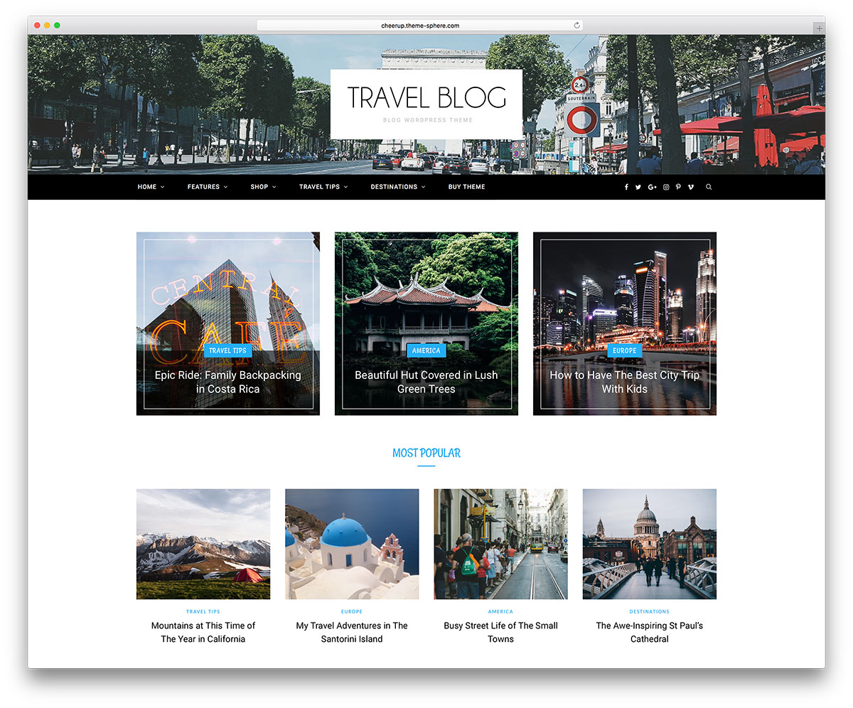 50 best wordpress travel themes for blogs hotels and for Blogger product review template