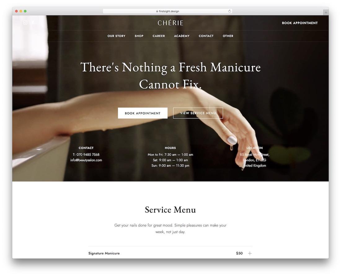 cherie small business wordpress theme
