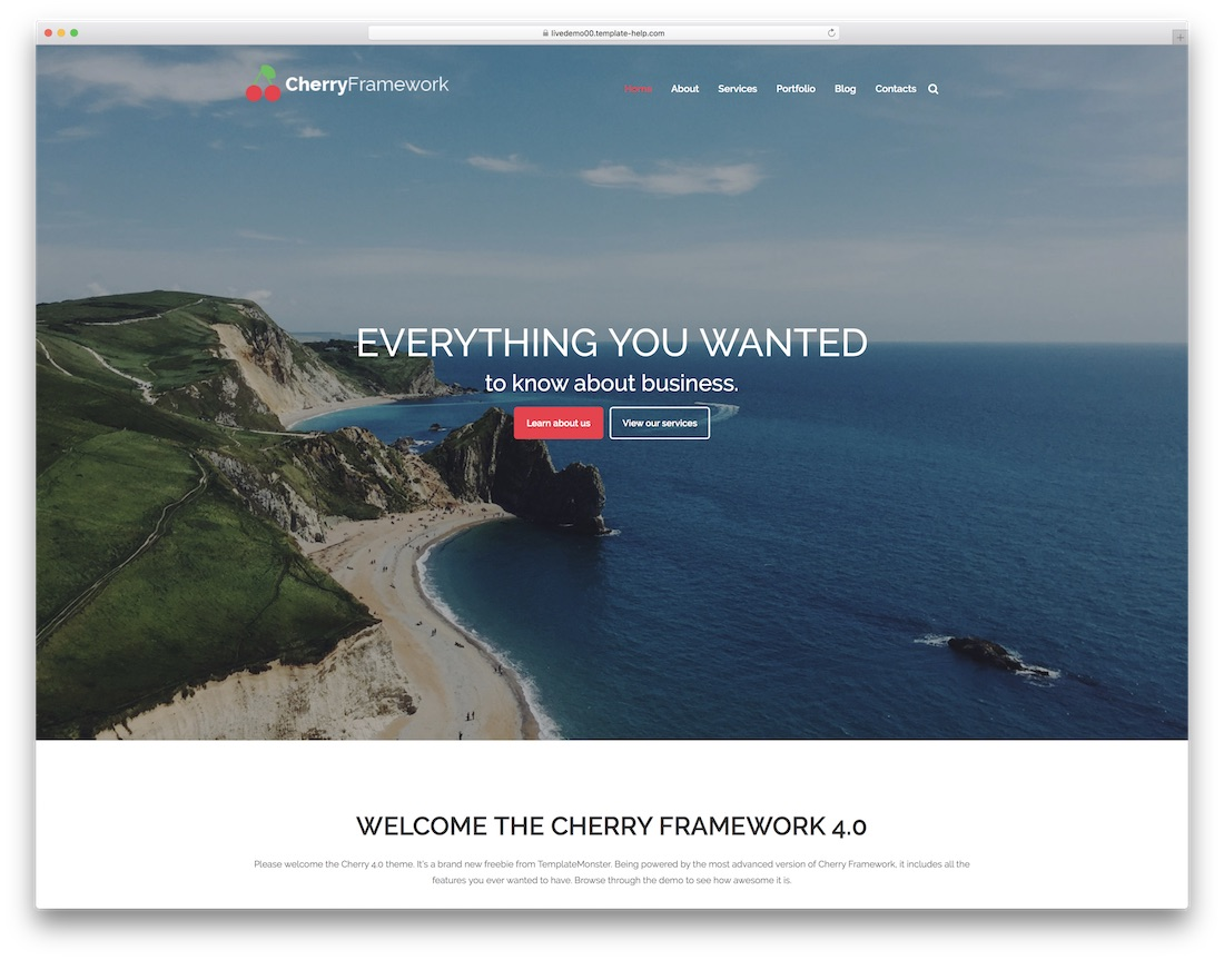 cherry website template