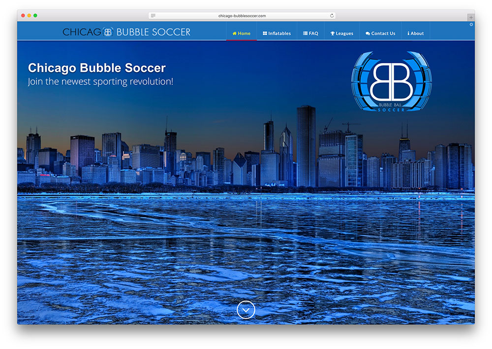 chicago-bubblesoccer-entertainment-site-using-x-theme