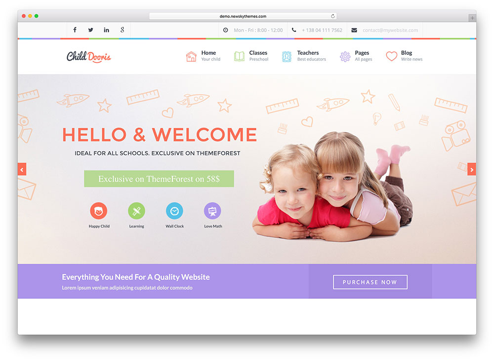 Top 15 Colorful Kindergarten WordPress Themes 2018 - Colorlib