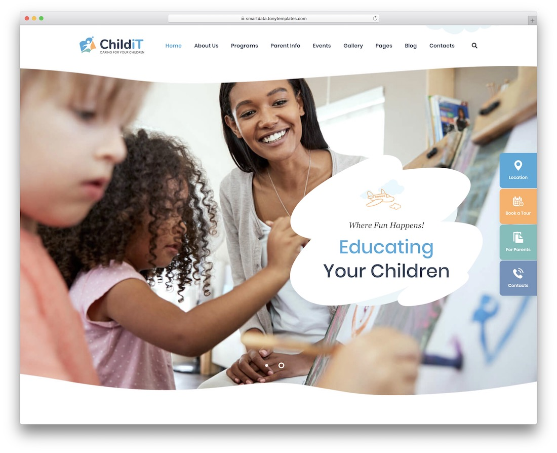 childit kindergarten wordpress theme