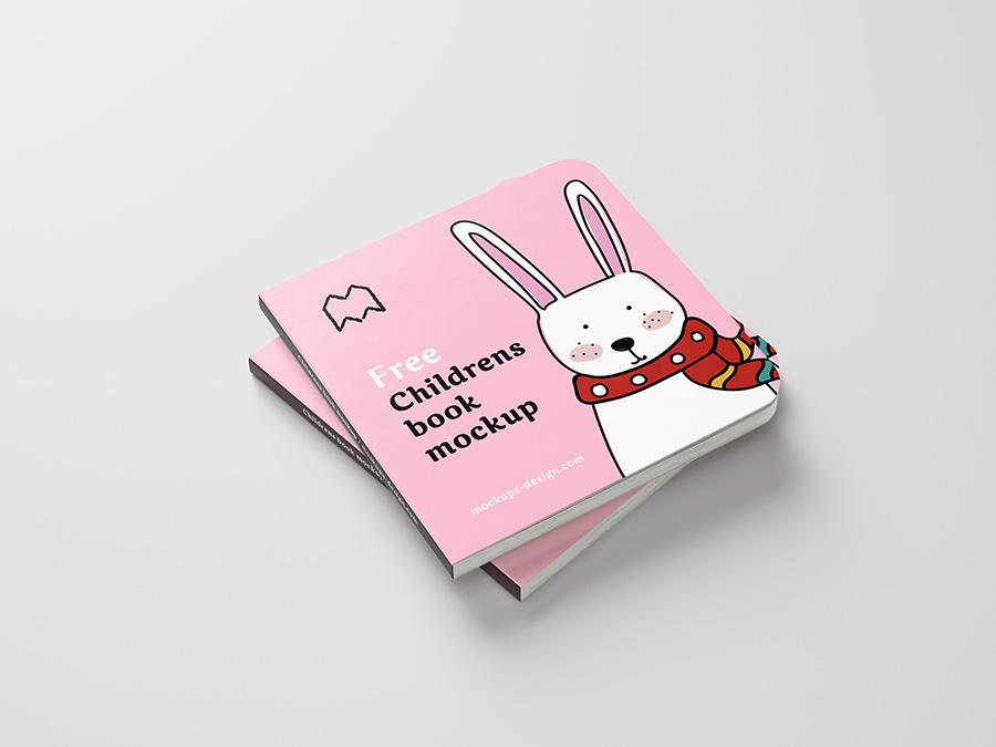 children book psd mockup