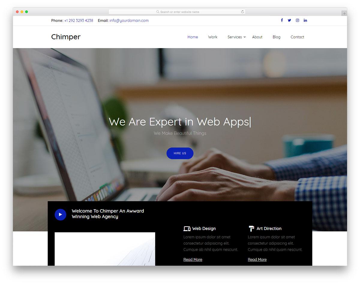 chimper-free-template-ui-ux-design-services