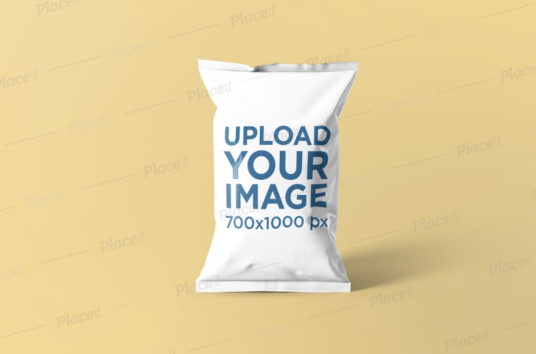 chips bag mockup featuring a solid background