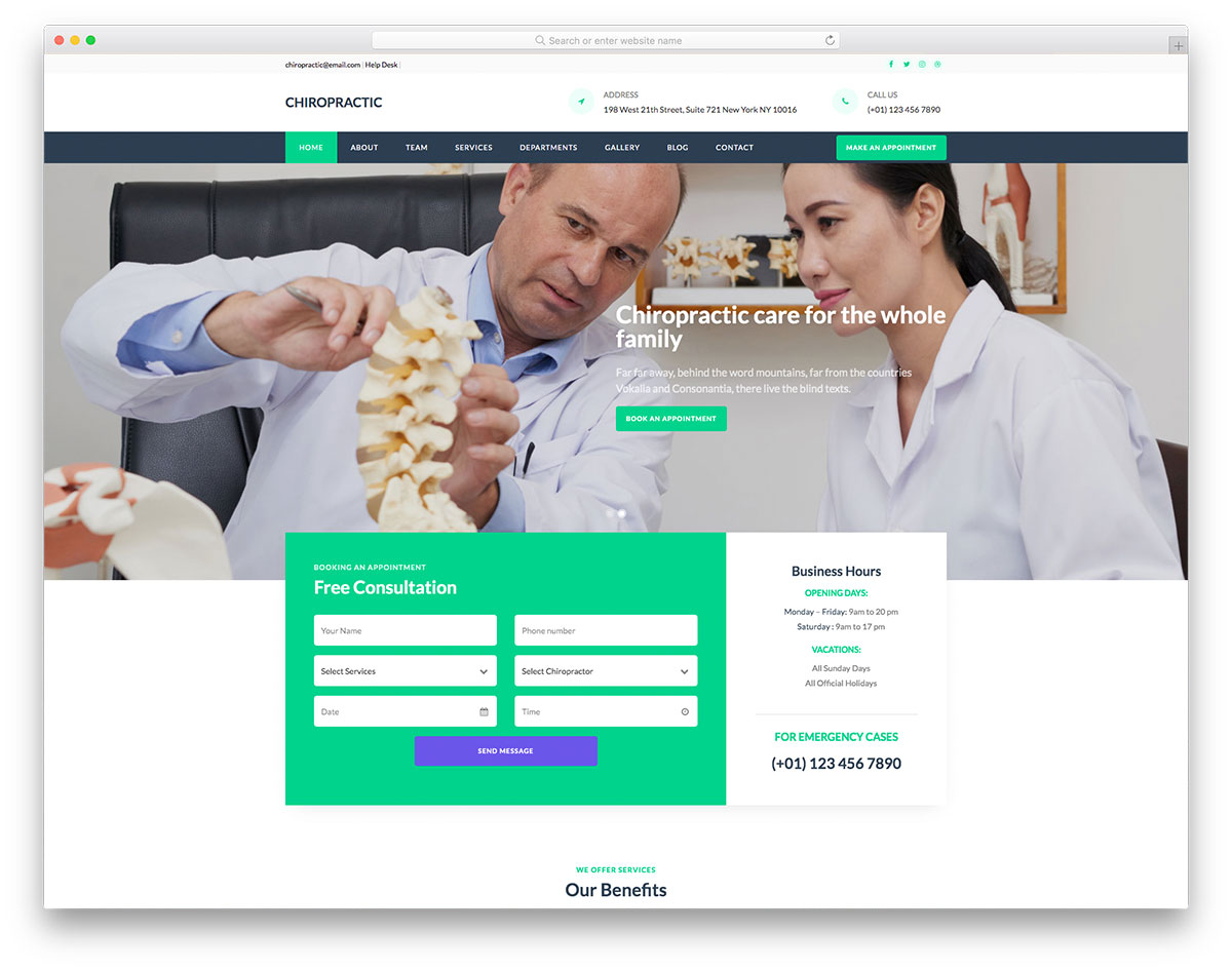 Chiropractic Free Template