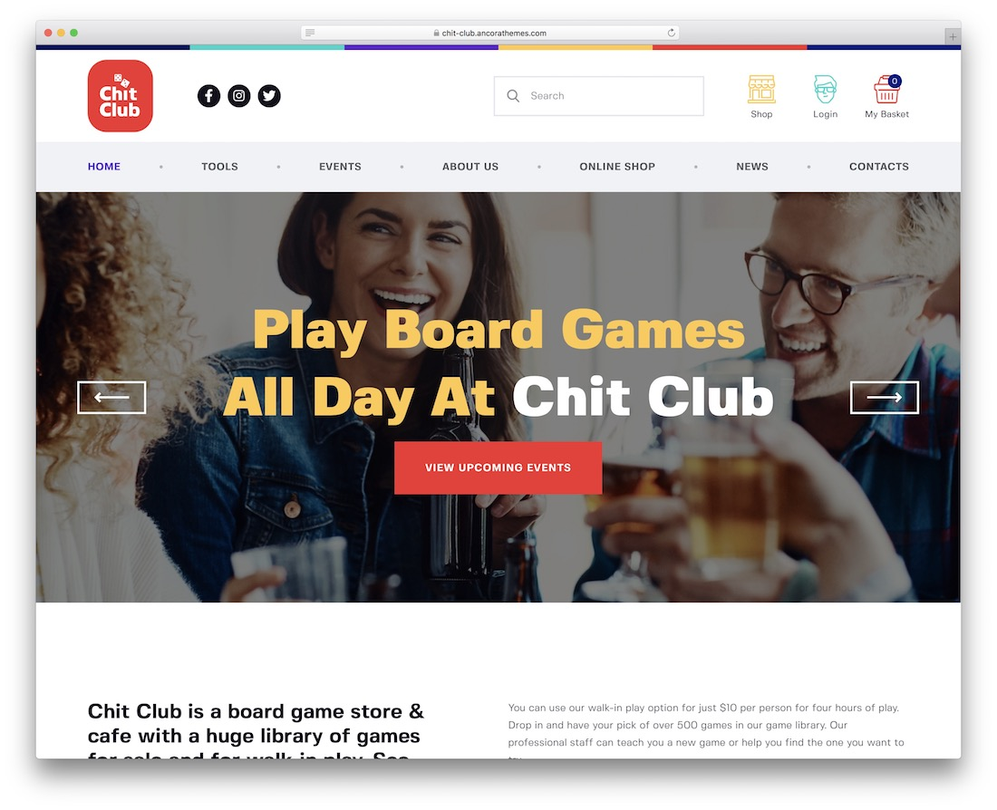 chit club gaming website template