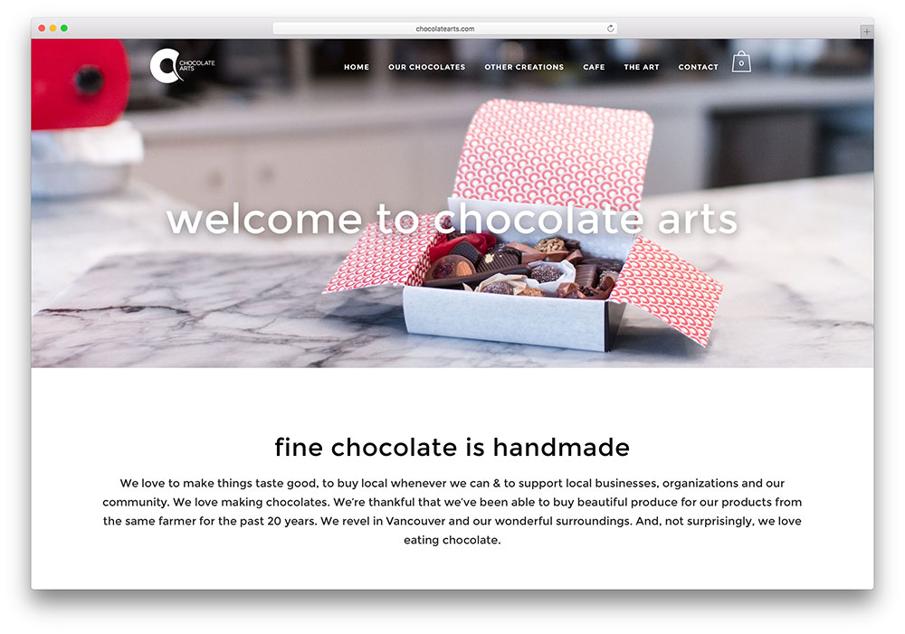 chocolatearts-handmade-chocolate-site-example