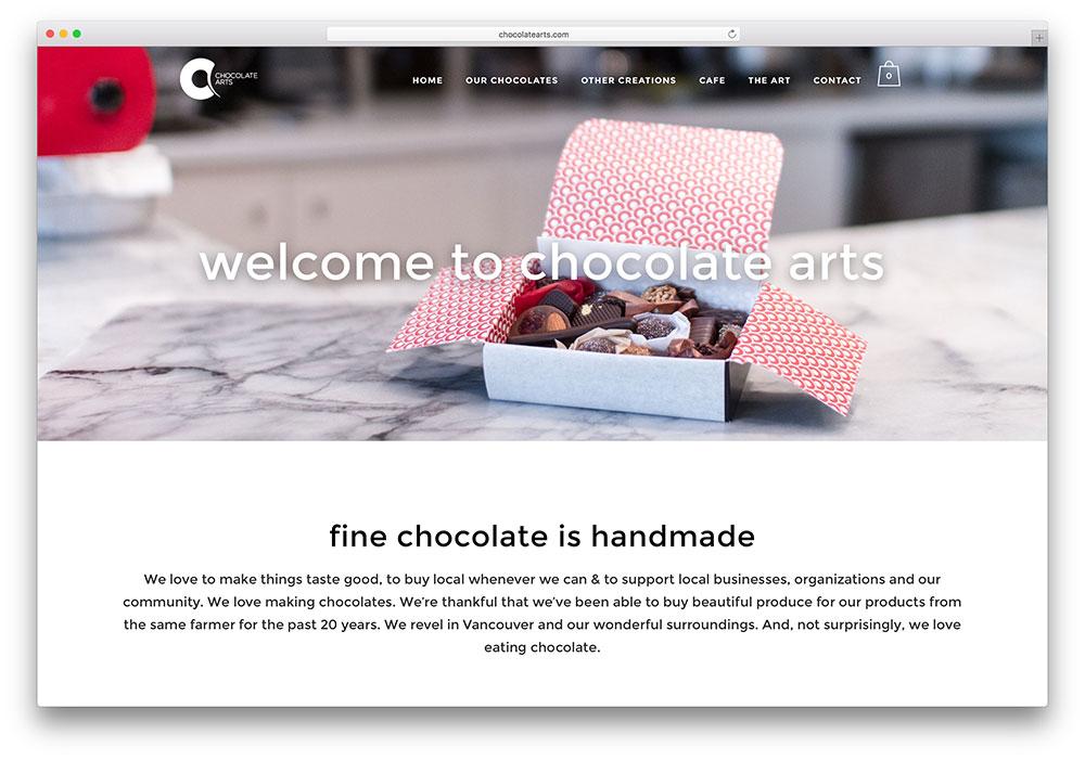 chocolatearts-handmade-chocolate-site-example