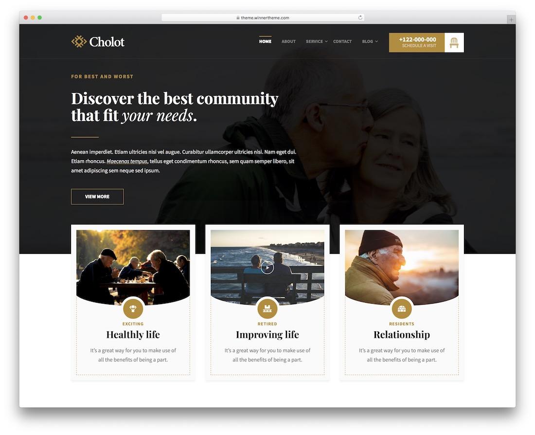 cholot community website template