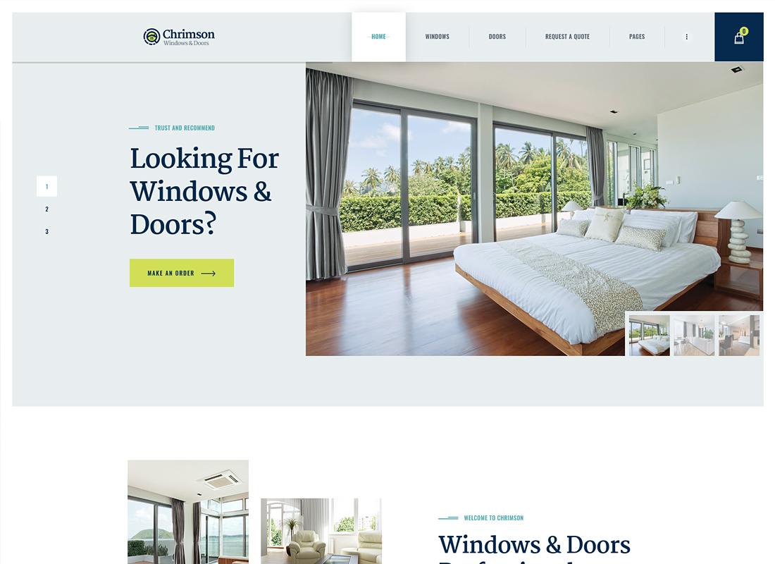 Chrimson - Windows & Doors Services WordPress Theme