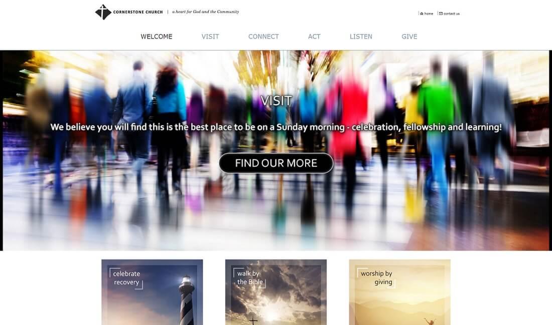 christian free church website template