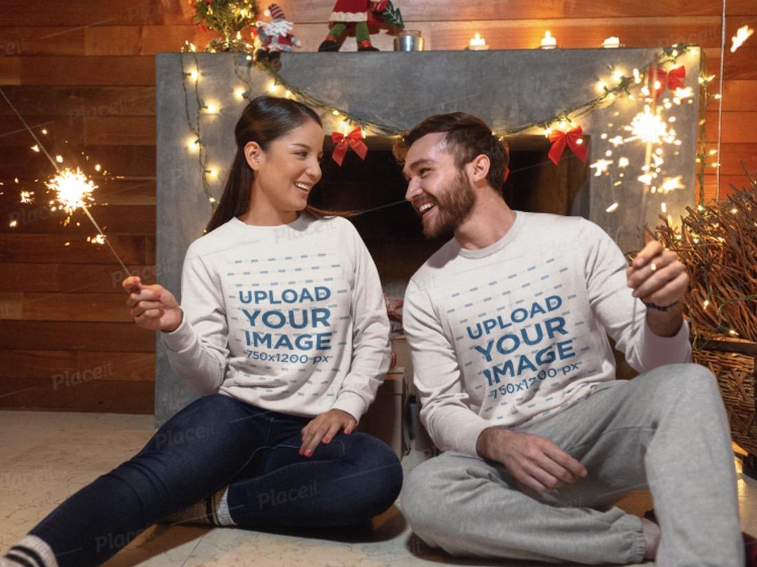 christmas sweatshirt mockup