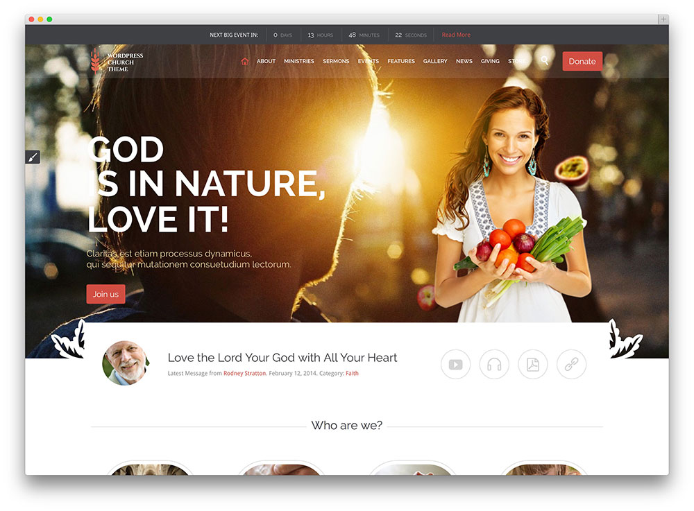 church and events virtuous wordpress theme