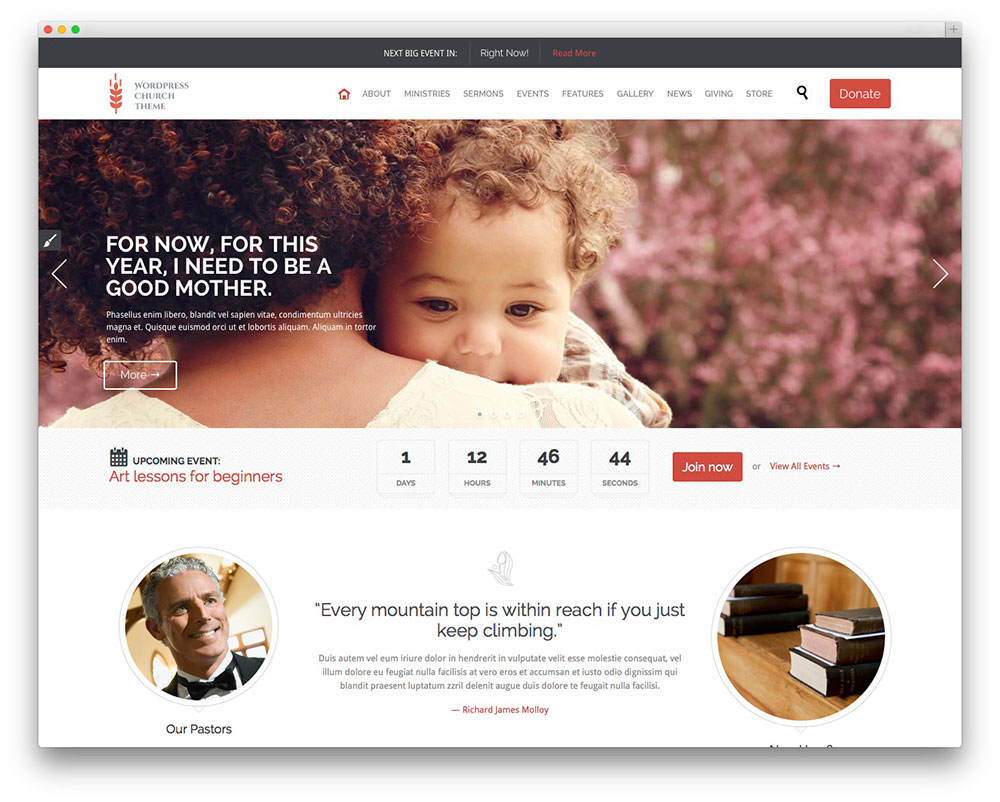 Church and Event WordPress Theme