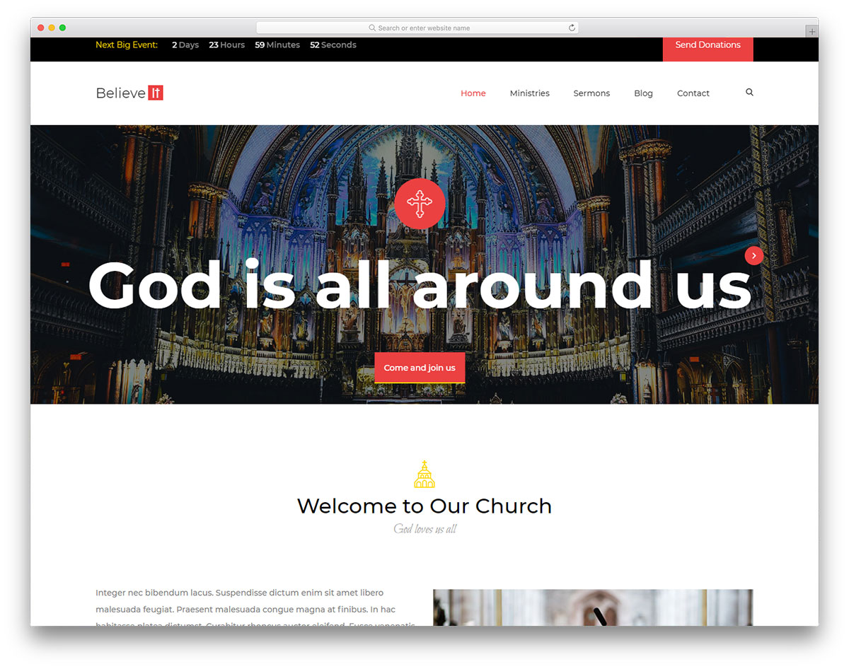 church - Free Church Website Templates
