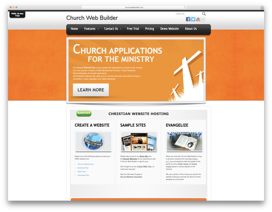 church web builder
