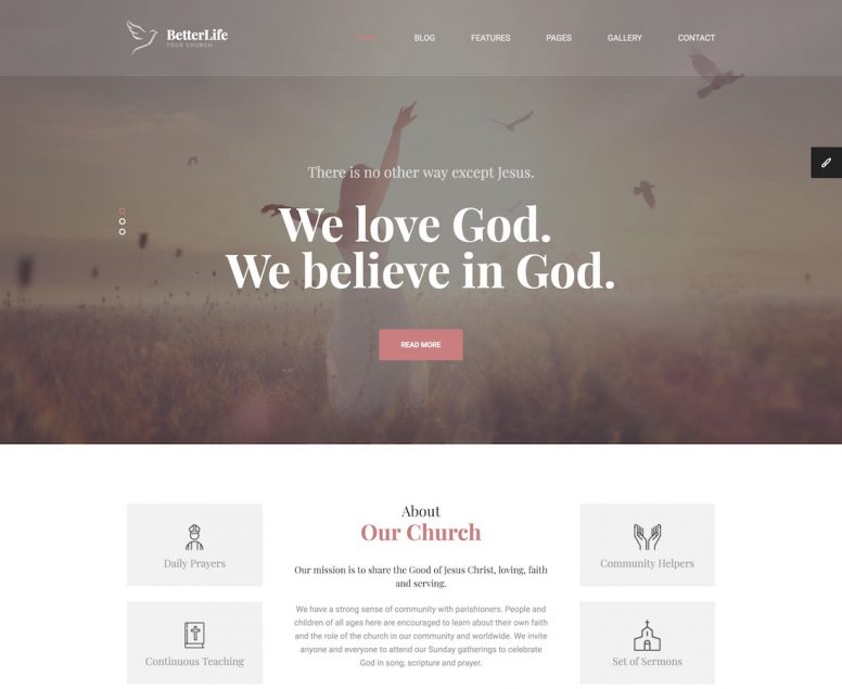 19 Best Charity And Church Website Templates 2018