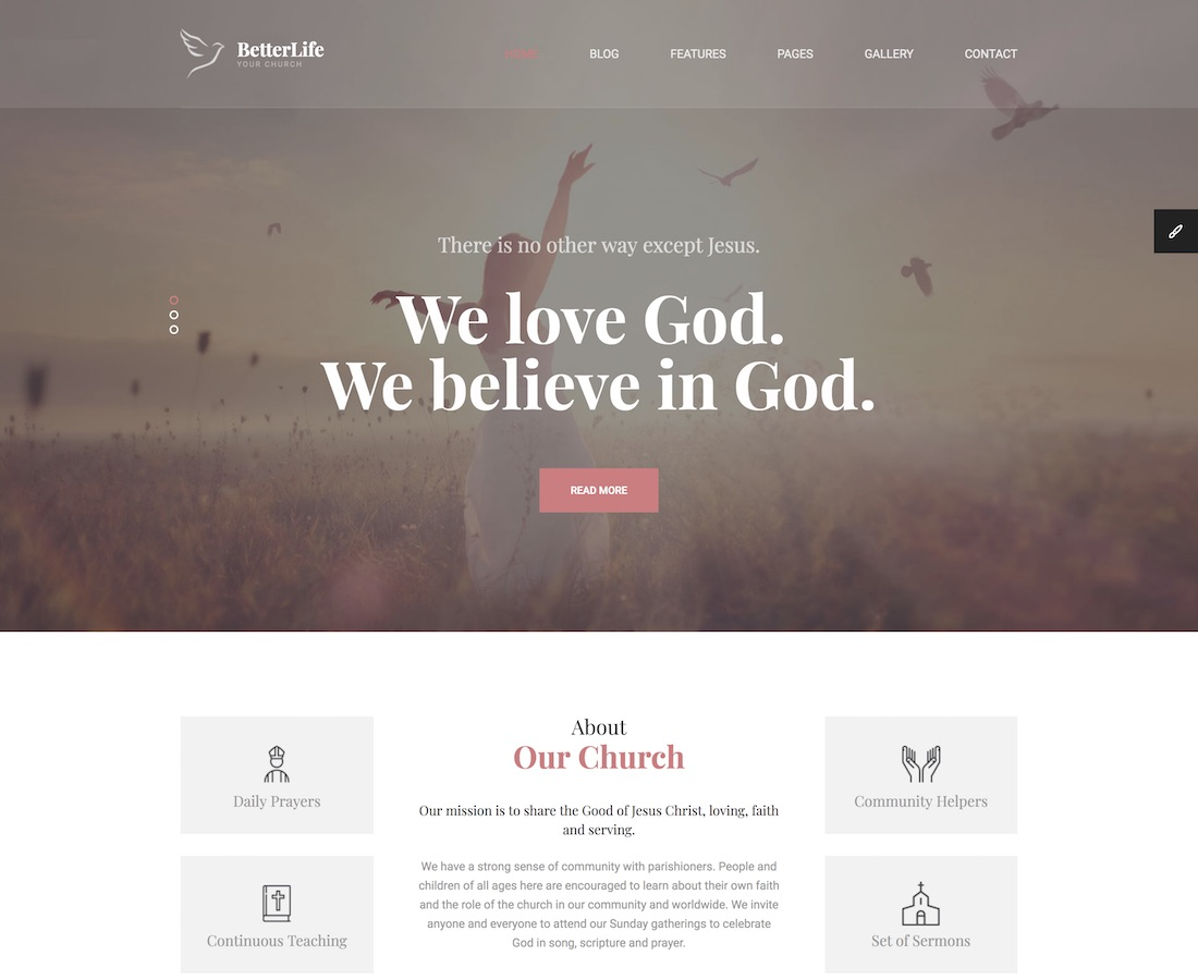 28 Best Charity And Church Website Templates 2019