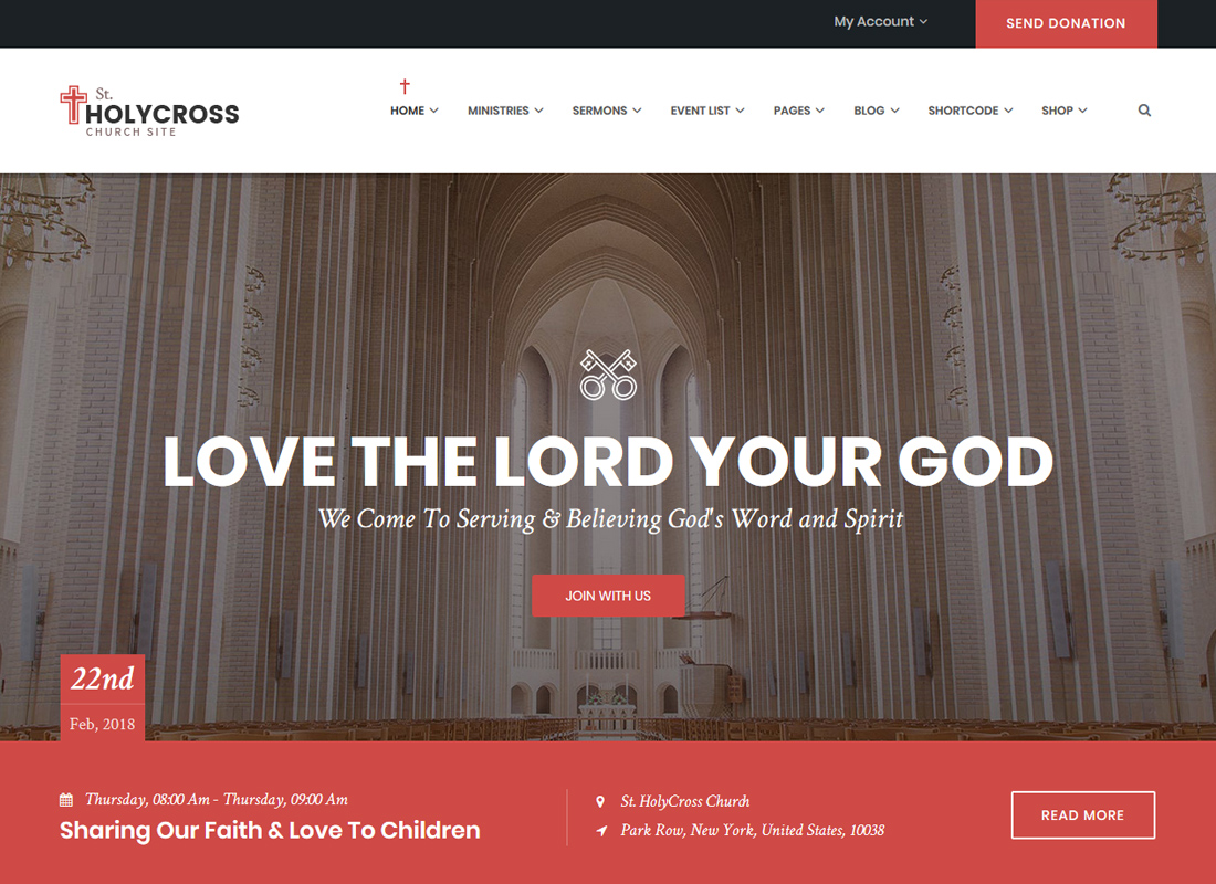 Church WordPress - HolyCross Church