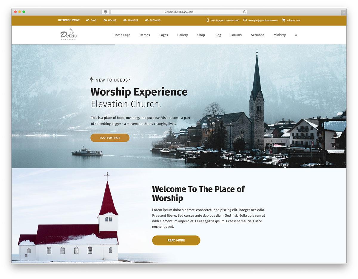 church WordPress theme