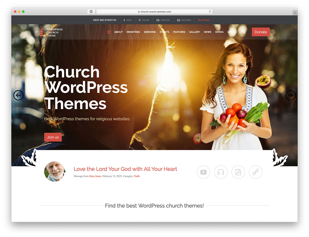 31 Best Mobile Friendly Church WordPress Themes 2020