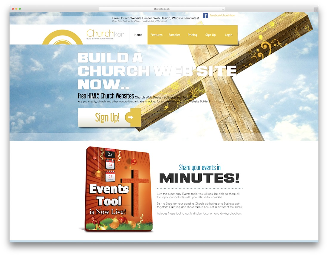 churchikon church website builder