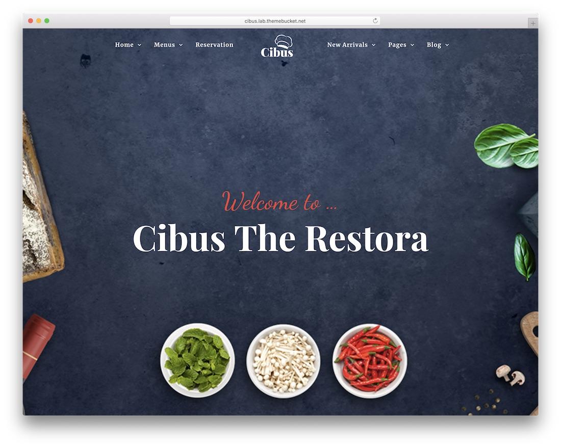 cibus coffee shop wordpress theme