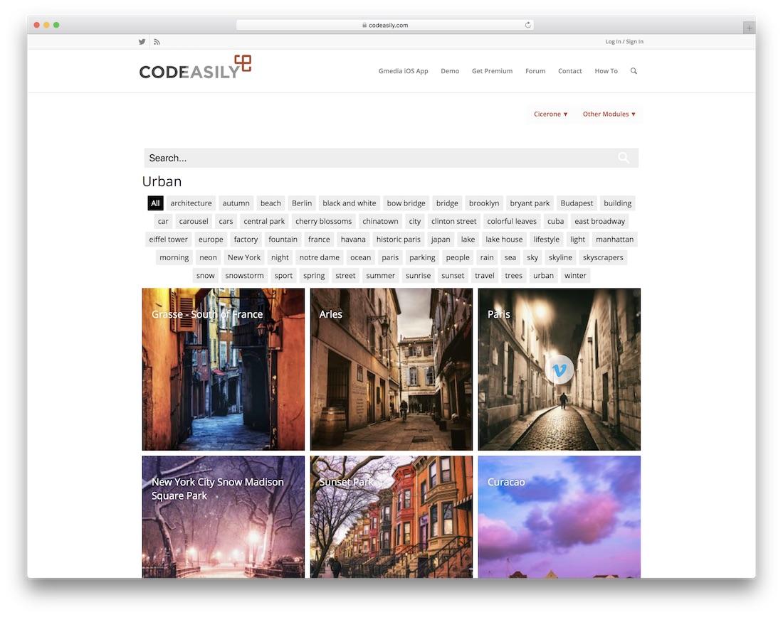 cicerone gallery portfolio plugin wordpress