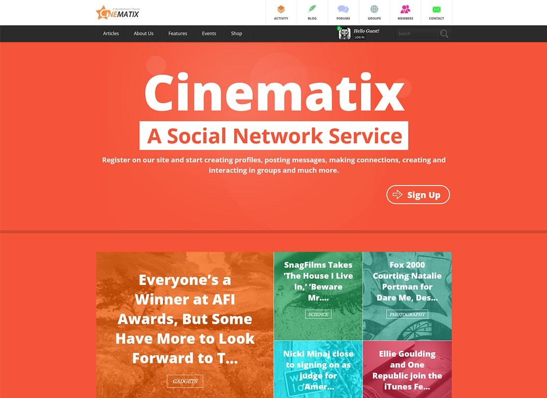 Cinematix | BuddyPress Community Theme