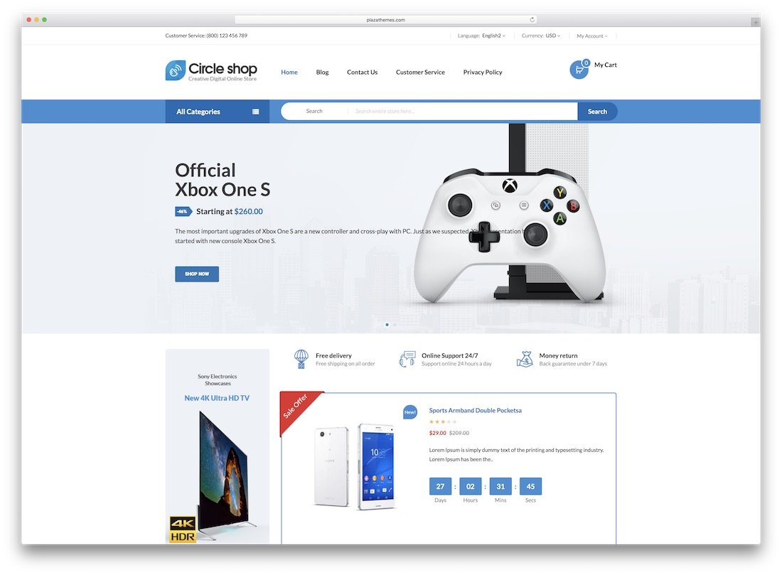 circleshop magento technology theme