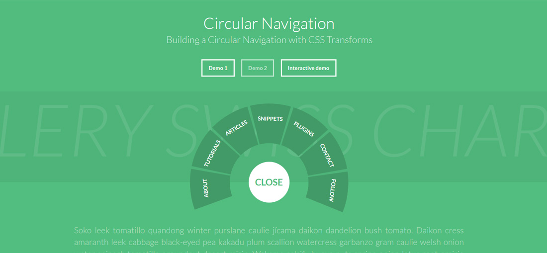 circular-navigation-free-website-menu-templates