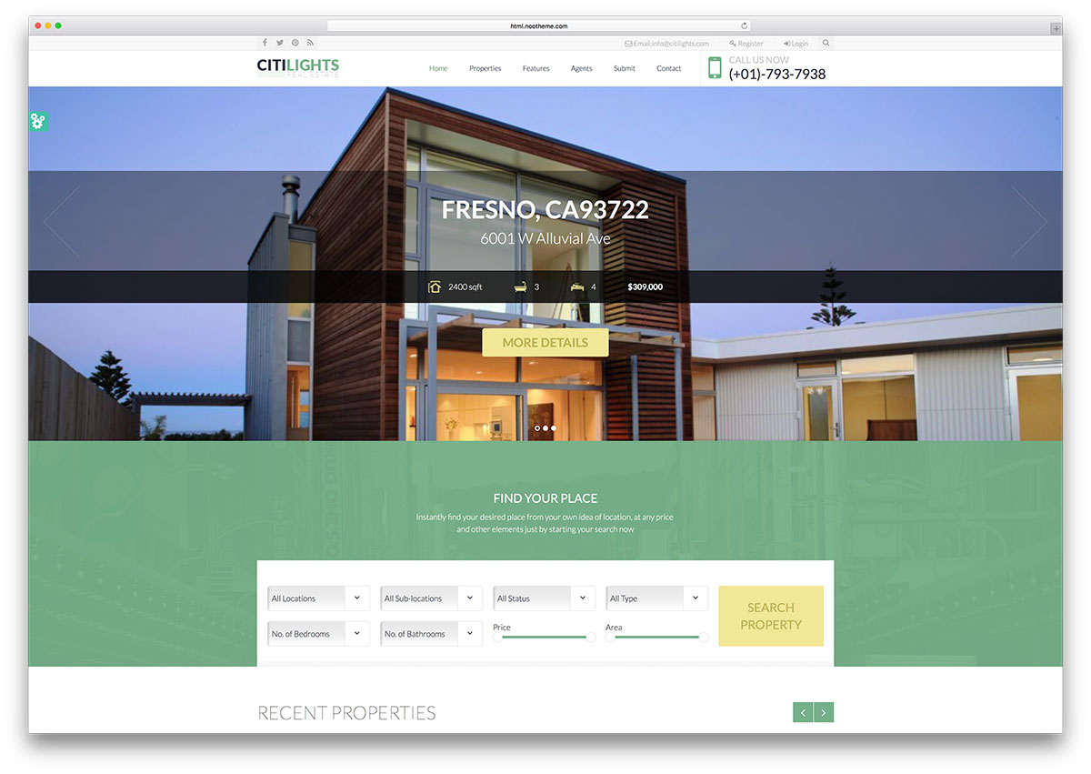 top html real estate website templates colorlib citilights simple html real estate template