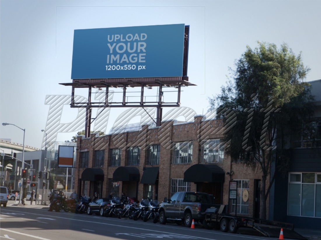 city billboard mockup